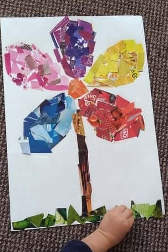 Spring Flower Art Collage | Hands On As We Grow®