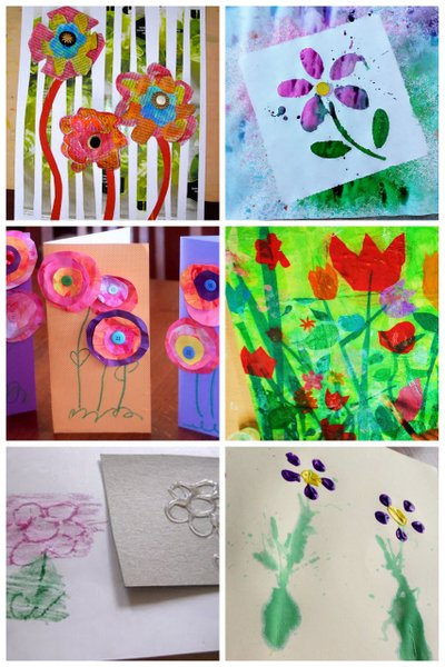 Flower art projects for kids to make - plus more spring art projects for kids!