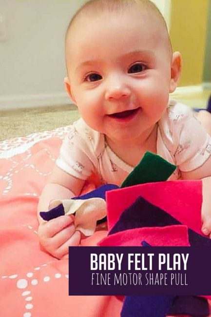 Explore touch and build fine motor skills with a low-prep baby felt play activity