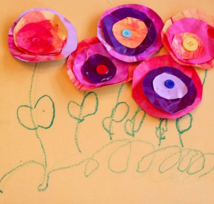Make a 3D flower card in this easy Mother's Day craft for kids