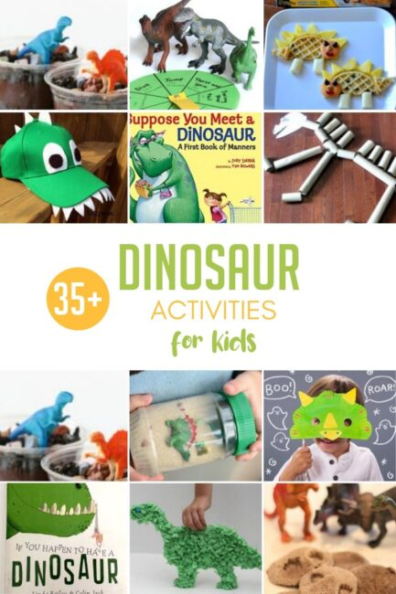 Put a little roar into your child's day with 35+ dinosaur activities! Make yummy snacks, create cute crafts, and celebrate dinosaurs together.