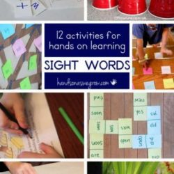 Hands On As We Grow- 12 Sight Word Activities