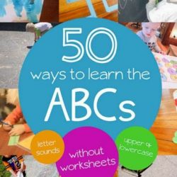 Hands On As We Grow- 50 Ways to Learn ABCs