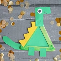 Build a popsicle stick dinosaur from Glued to My Crafts