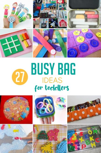 Here's a slew of busy bag ideas for toddlers you can have ready for your next road trip! The kids will love you (and you'll love the trip for once).