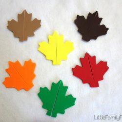 Fall Leaf Match- Little Family Fun