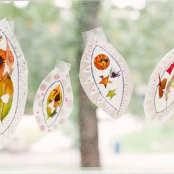 Fall Leaf Suncatcher Collage- Hands On As We Grow