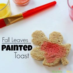 Fall Leaves Painted Toast- Munchkins and Moms