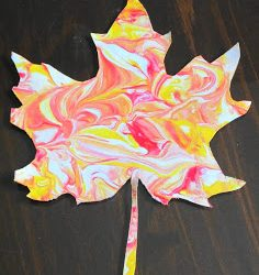Marbled Fall Leaves- Teaching with TLC