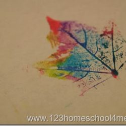 Marker Leaf Print- 123 Homeschool 4 Me