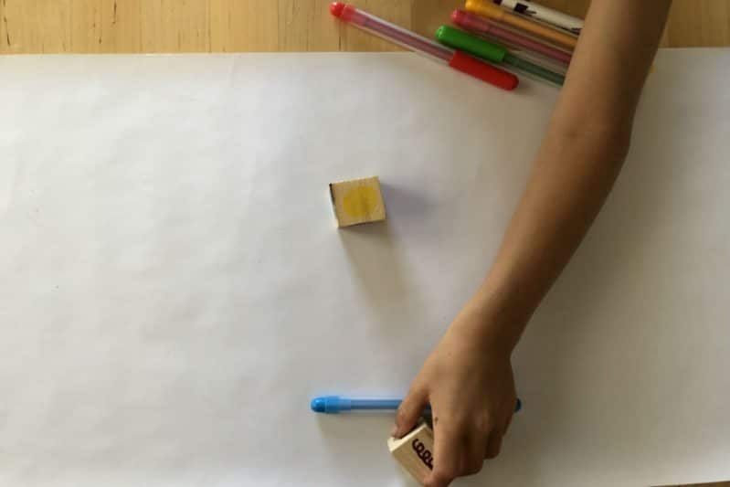 Use your Art Dice and basic art supplies to play an art-based game that boosts early writing skills.