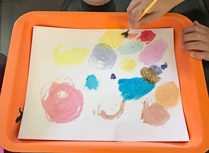 """Enjoy an abstract art activity based on """"The Dot"""" by Peter H. Reynolds!"""