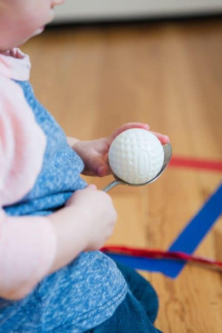 Try two simple line walking activities to practice fine motor and coordination skills with your toddler or preschooler.