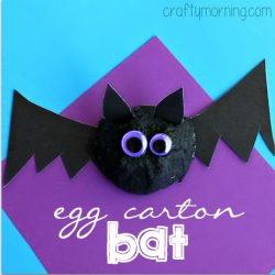 Egg Carton Bat- Crafty Morning