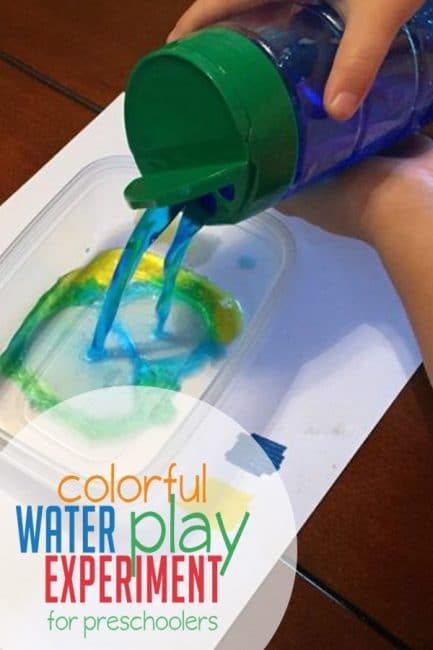 Learning colors has never been more fun! Combine water play and preschool science in this fun colorful water play experiment.