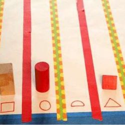 Sorting Shapes (and graphing) Activity for Toddlers