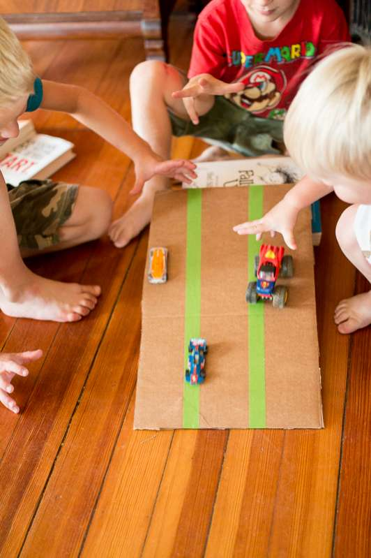 Inclined planes - one of 10 hands-on science & math activities for kids!