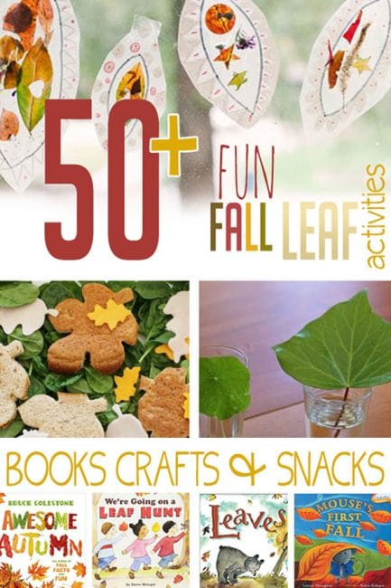Have Fall fun with 50+ fun fall leaf themed activities, books, snacks, and crafts for kids!
