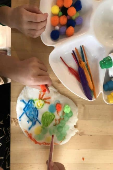 Create 3D art with a fun sensory play dough art activity for kids of all ages!