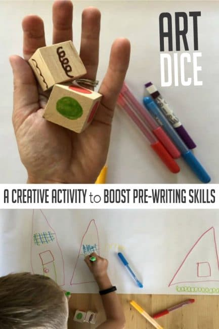 Make DIY art dice to boost pre-writing skills and creativity!