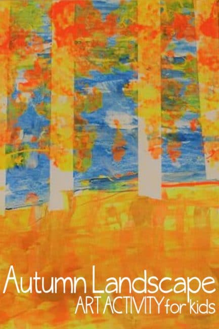 Celebrate Fall with a fun and easy autumn art activity!