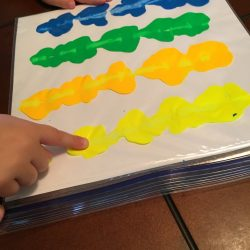 Teaching skip counting? Your child will love this unique and artistic skip counting activity! Squish paint and practice counting as you create art!