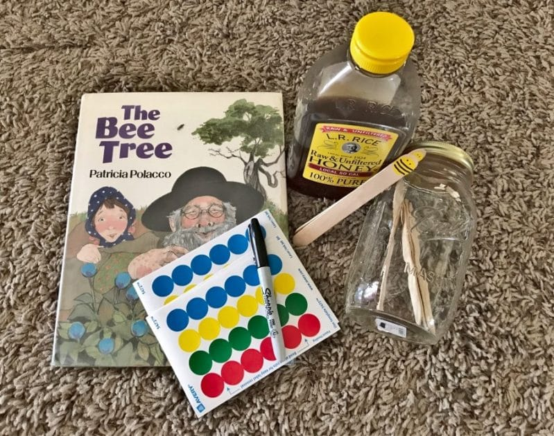 Go on a honey hunt in this easy book based activity for preschoolers!