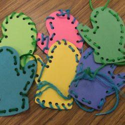 Lacing Mittens- Preschool Teacher 81