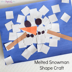 Melted Snowman Collage- Fun Learning For Kids