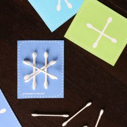 Q-tip Snowflake- Playdough to Plato