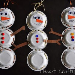 Snowman Lacing- I Heart Crafty Things