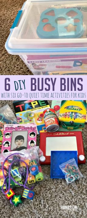 Diy Busy Bins For Six Go To Quiet Time Activities For Kids