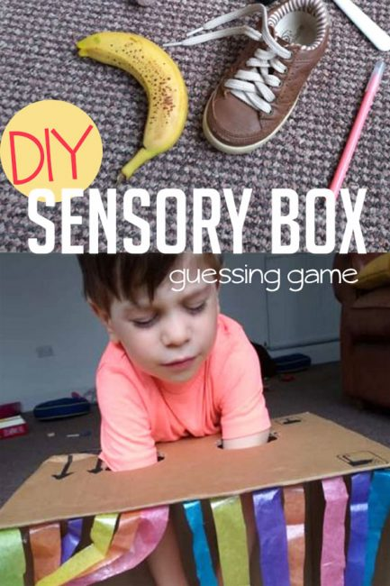 Practice important sensory skills with this fun sensory box guessing activity. Your child will love playing detective with this DIY What's in the Box game!