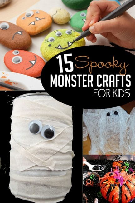 Try these 15 not-so-spooky monster crafts for kids to make for Halloween!