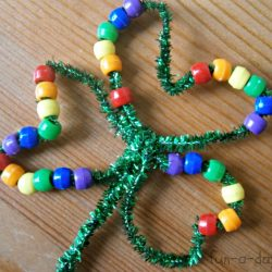 Beaded Shamrocks- Fun-A-Day
