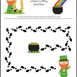 Leprechaun Footprint Cutting- Makeovers And Motherhood