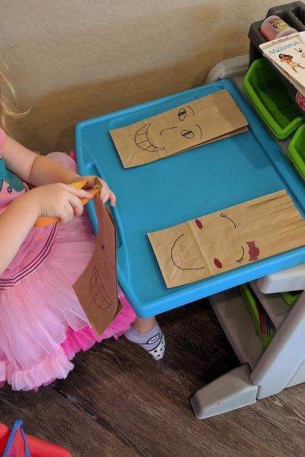 Work on scissor and fine motor skills with a silly paper bag haircuts activity from our Member of the Month, Stephanie.