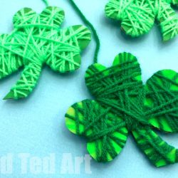 Yarn Wrapped Shamrock- Red Ted Art