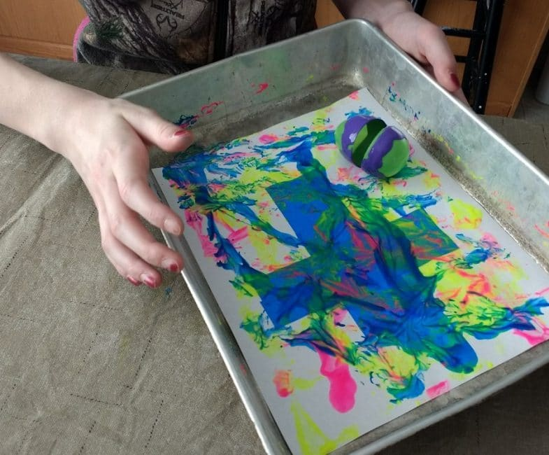 Roll and paint with a cool Easter egg painting activity!