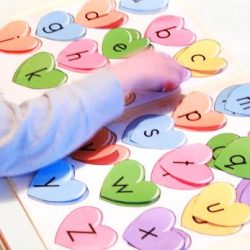 Upper & Lowercase Letters: Heart Matching
