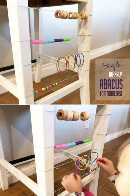 Make a custom DIY abacus for your toddler to play with for hours and hours.