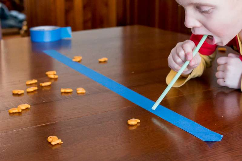 Blow Goldfish crackers