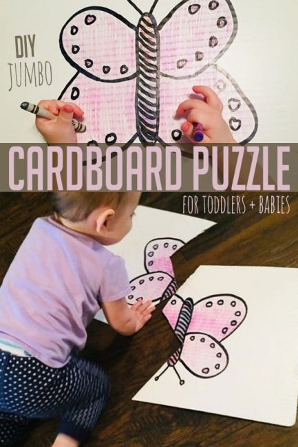 Make your own custom cardboard puzzle that's perfect for babies and toddlers! Learn how to DIY your own with this simple tutorial.