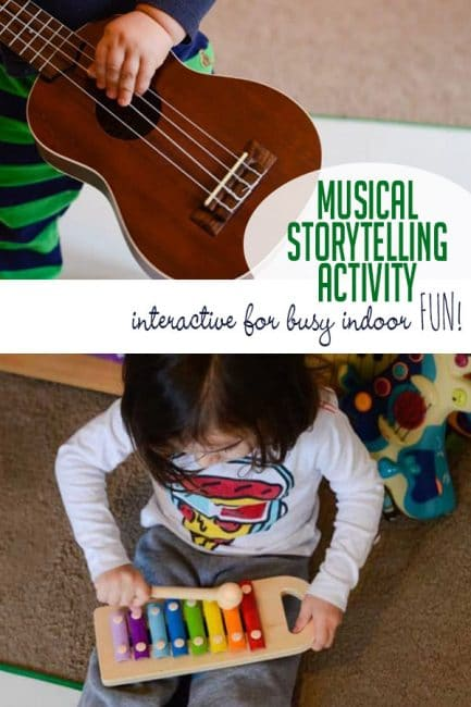 Tell a story using music! Even the busiest of kids will love this creative literacy activity!