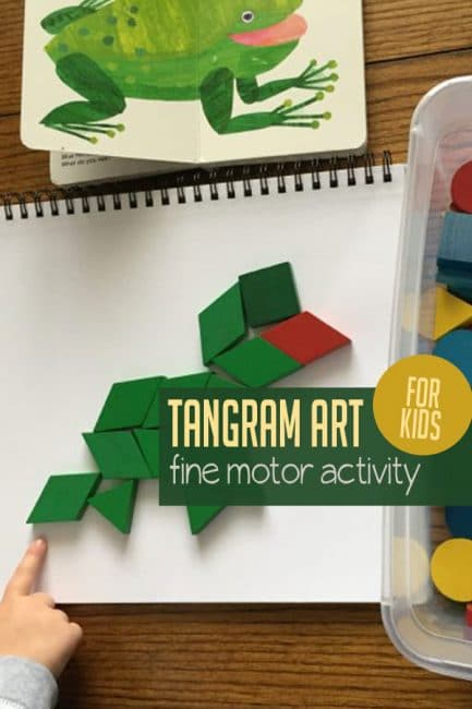 Take the Eric Carle art challenge with your kids to make beloved books come to life - using only tangram blocks! Can you do it?