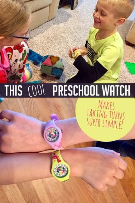 This cool preschool watch made taking turns so much easier! Try it with your kids today!