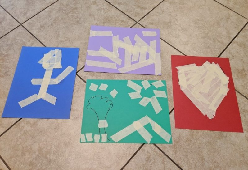 We love getting crafty with tape!