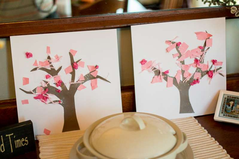 Easy Spring trees for toddlers to make