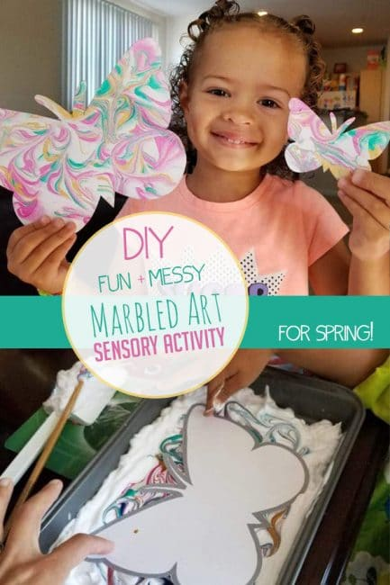 Make DIY marbled Easter eggs with a fun sensory art idea from our Member of the Month, Lana.