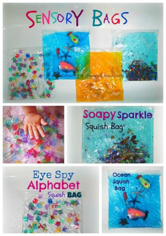 Seal up the mess! Sensory bags are a great activity for kids!